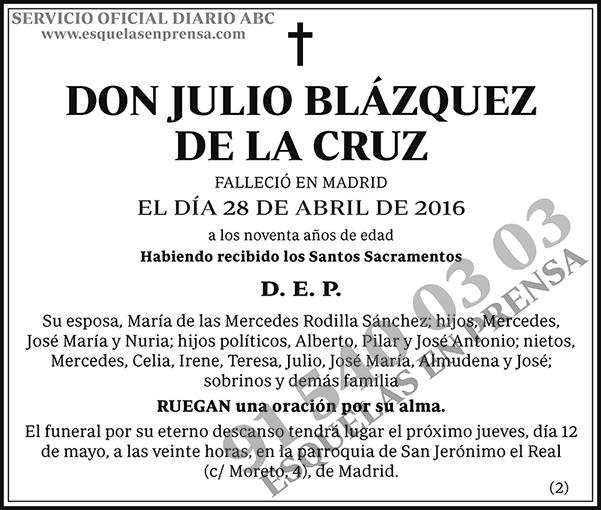 Julio Blázquez de la Cruz